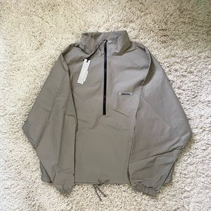 Fear of God Essentials Track Jacket Taupe Large